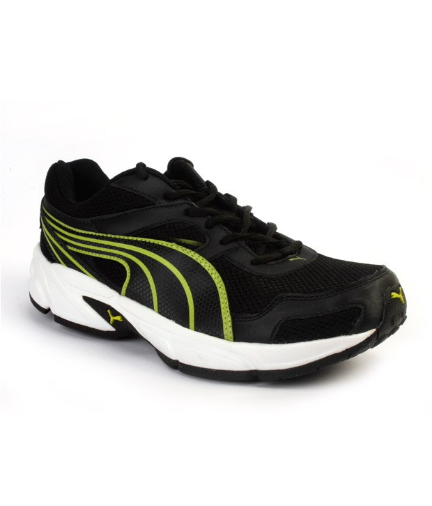 4d6e416a6ca7 Buy Puma Bruno Black   Lime Green Running Shoes for Men