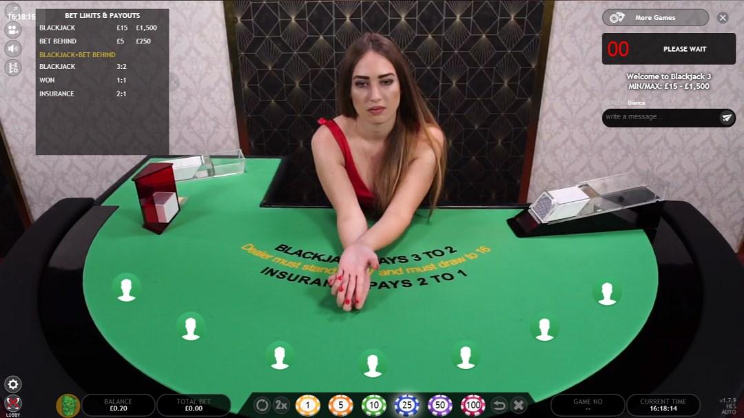 computer blackjack dealer