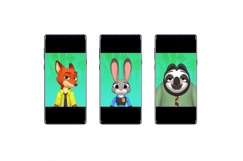 Disney team up with Samsung for Zootopia AR Emojis