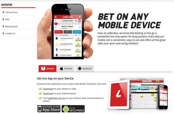 Ladbrokes Australia review: Customers from Nigeria accepted
