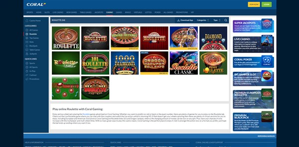 Coral Casino Roulette Review