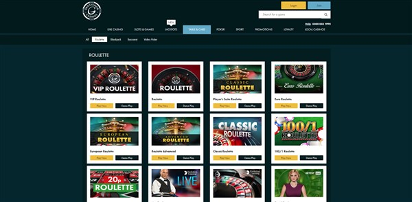 Grosvenor Casinos Roulette Review