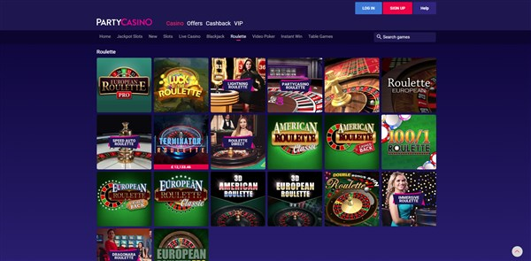 Party Casino Roulette Review