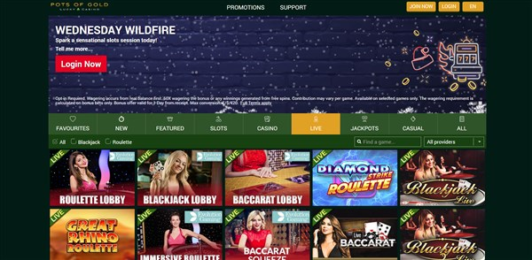 Pots of Gold Casino Roulette Review