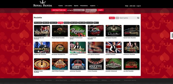 Royal Panda Casino Roulette Review