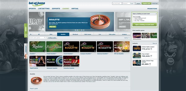 bet at home casino roulette review