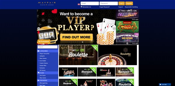 Mayfair Casino Roulette Review