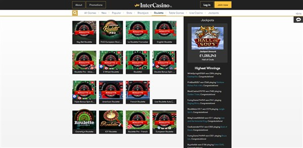 intercasino roulette review
