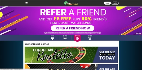 mfortune casino roulette review
