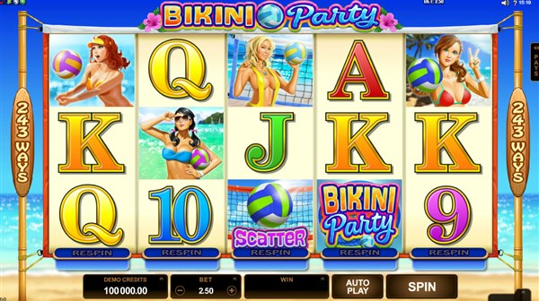 Bikini Party Slots for winter slots race