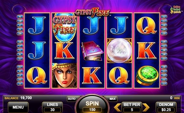 Gypsy Fire Slot screenshot at Hard Rock Online Casino