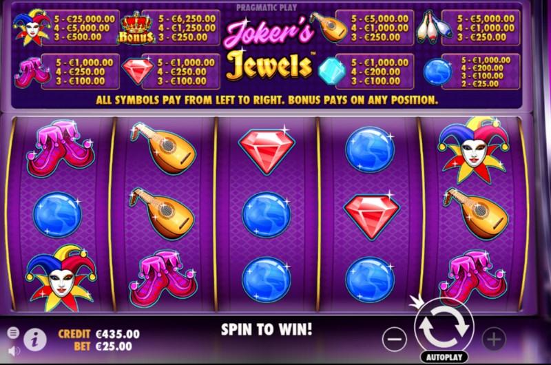 Joker's Jewels Slots Game