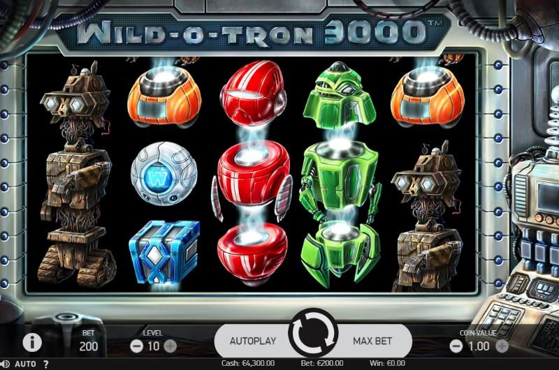 Wild-O-Tron 3000 Slots Stacked Symbols