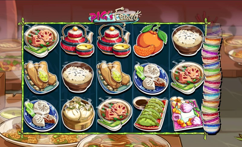 Pig's Feast Slots Bowl Stacking Feature