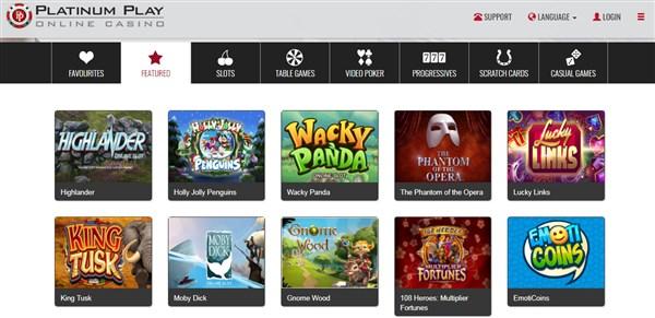 Platinum Play Casino Codes