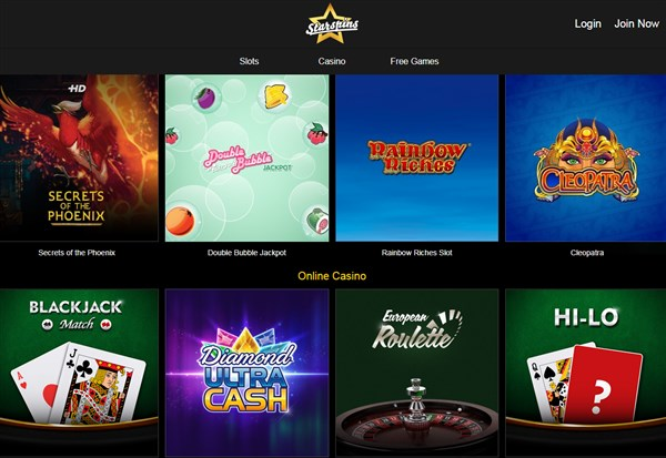 Star Spins Casino Review