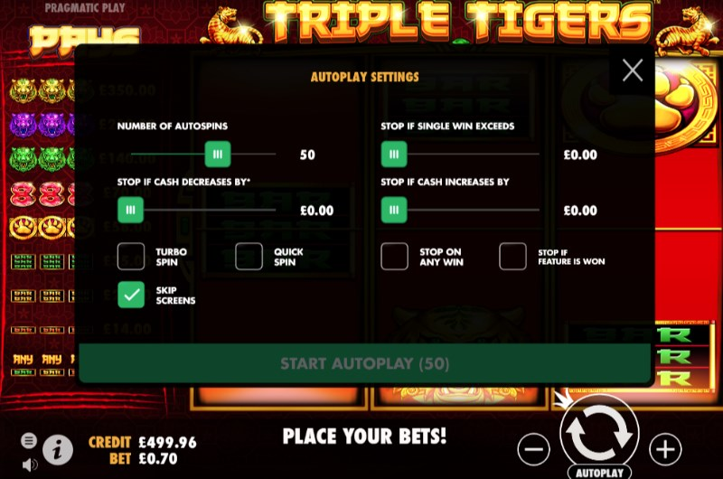 Triple Tigers Slots Autoplay
