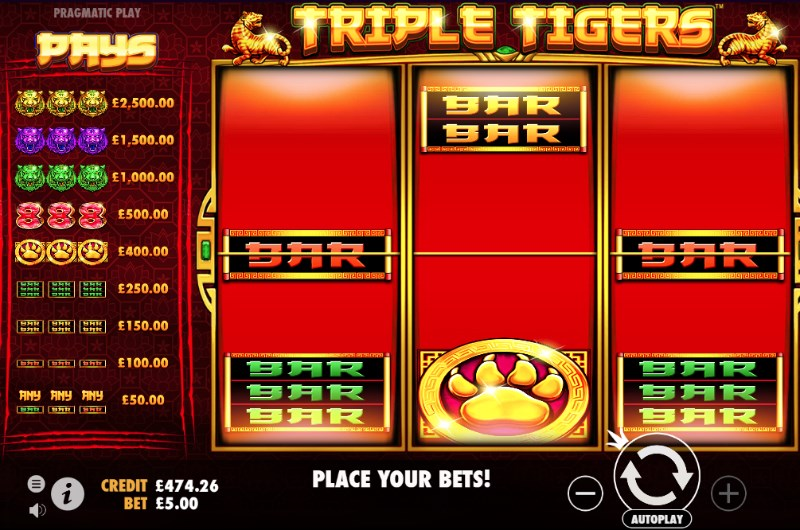Triple Tigers Slots Payouts