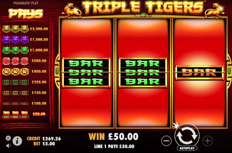 Triple Tigers Slots Win