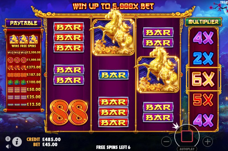 Treasure Horse Slots Free Spins