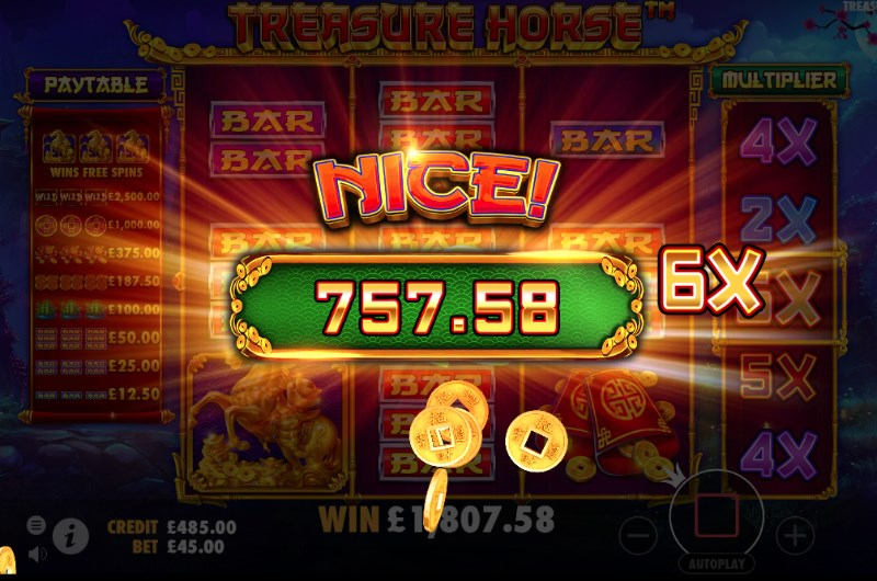 Treasure Horse Slots Win