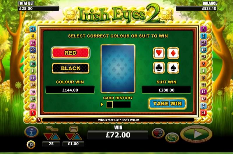Irish Eyes 2 Slots Gamble Bonus