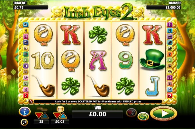 Irish Eyes 2 Slots Symbols