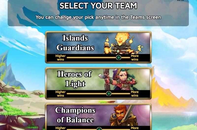 Battlemania Slots Team Selection