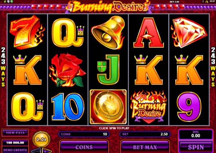 Burning Desire Slots Game