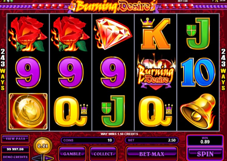 Burning Desire Slots Win