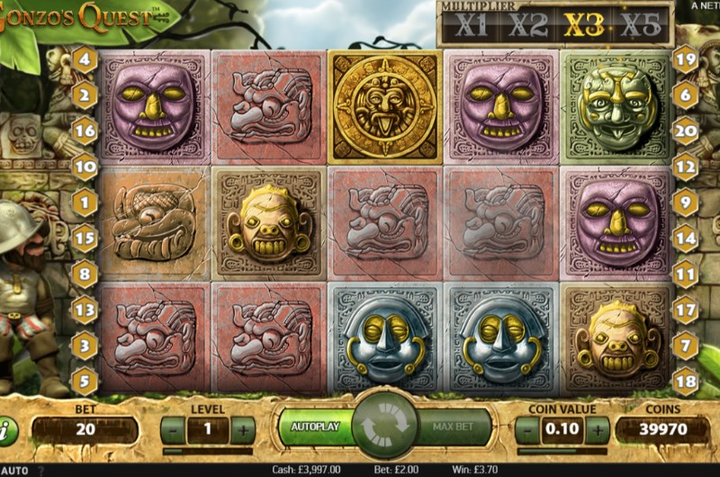 Gonzo's Quest Slots Multiplier