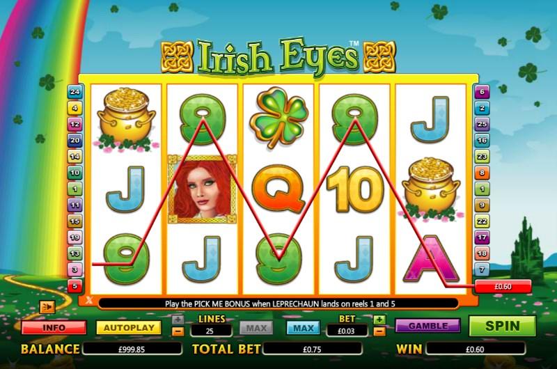 Irish Eye Slots Game