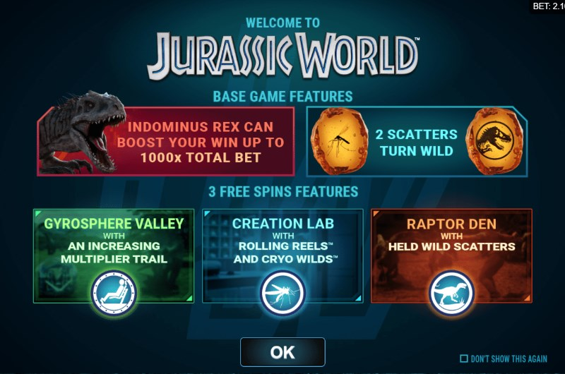 Jurassic World Slots Bonus