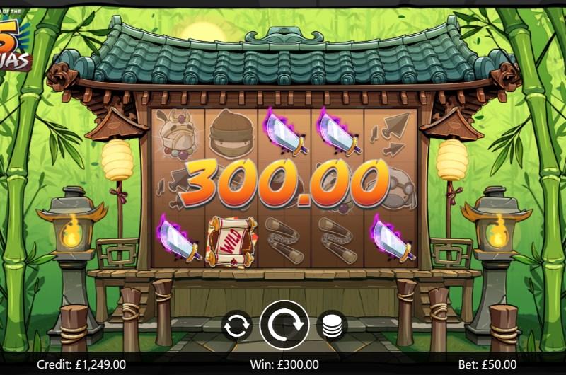 Legend of the Five Ninjas Slots Win