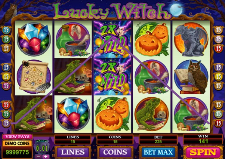 Lucky Witch Slots Win