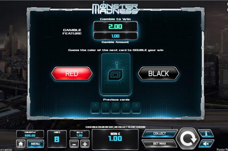 Monster Madness Slots Gamble Bonus