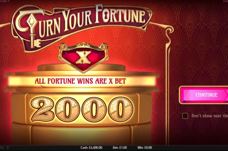 Turn Your Fortune Slots Bonus