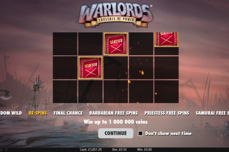 Warlords Slots Free Spins