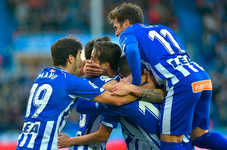 Deportivo Alaves celebrate