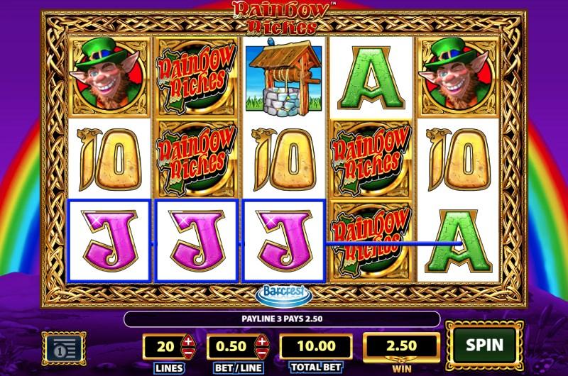 Rainbow Riches Slots Win