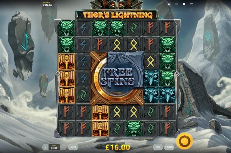 Thor's Lightning Slots Game