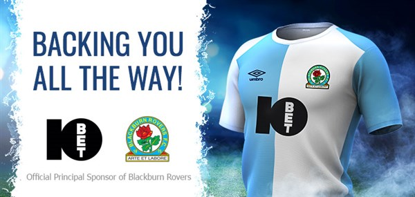 10bet Blackburn Sponsorship
