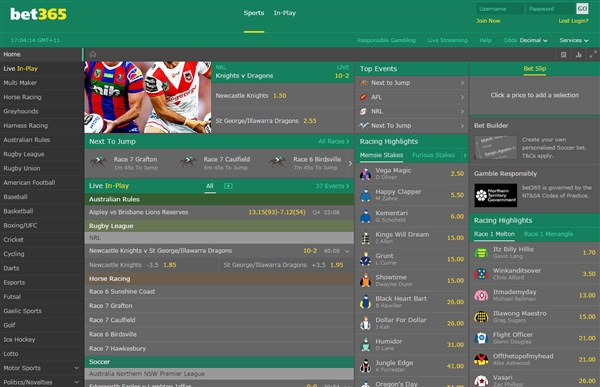 Bet365 Aus Betting Platform