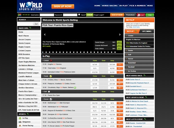 World Sports Betting Home