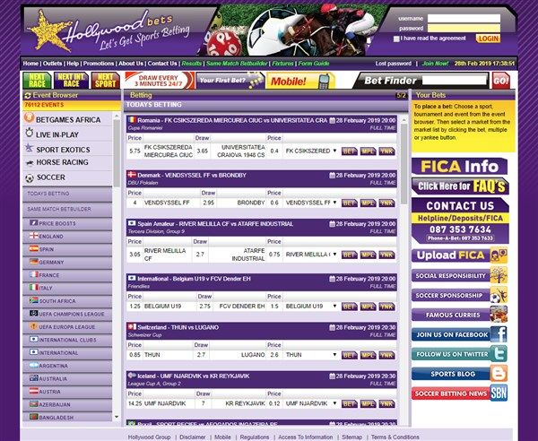 Hollywoodbets Sports book