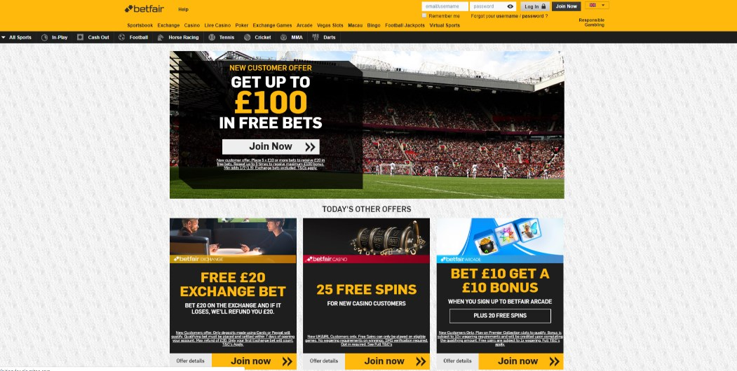 Betfair Bonus Codes
