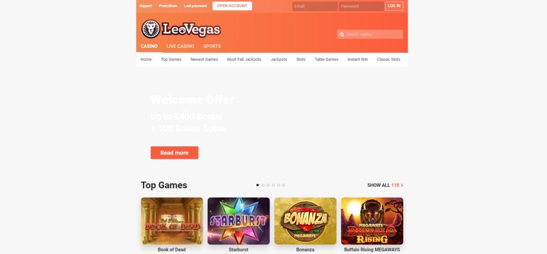 LeoVegas Bonus Codes
