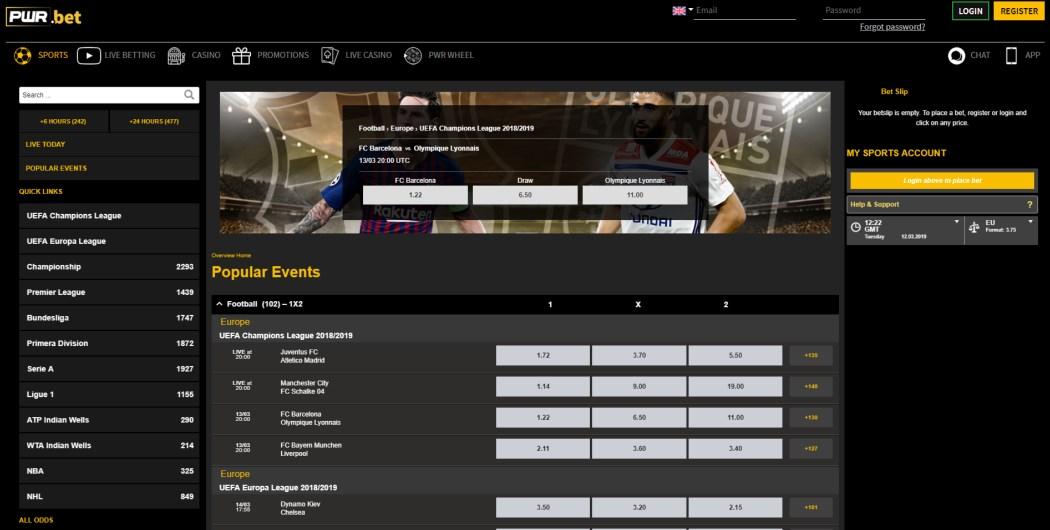 PWR.bet Bonus Codes