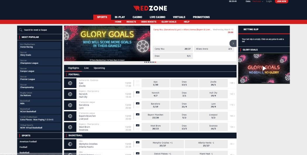 RedZoneSports Bonus Codes