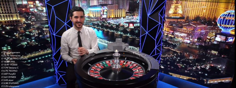 Double ball roulette table with male dealer